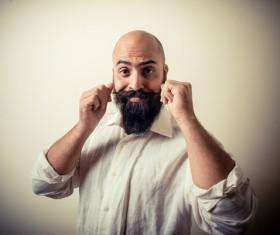Showcase beautiful beard Stock Photo