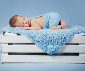 Sleeping baby Stock Photo 01
