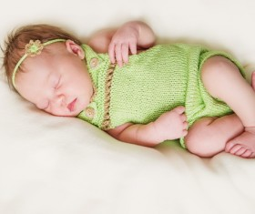 Sleeping baby Stock Photo 03