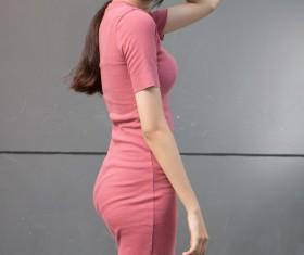 Slim figure Asian girl Stock Photo