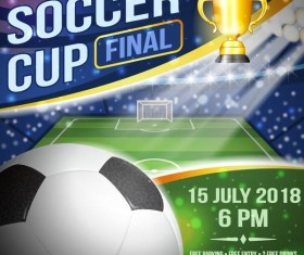 Soccer cup final poster vector
