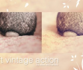Soft vintage photoshop action