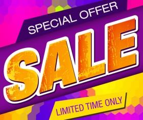 Special offer sale background grunge vector