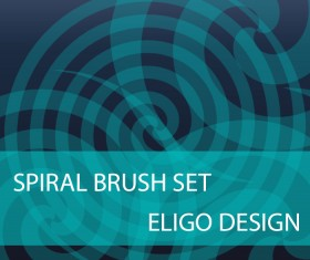 Spiral photoshop brushes