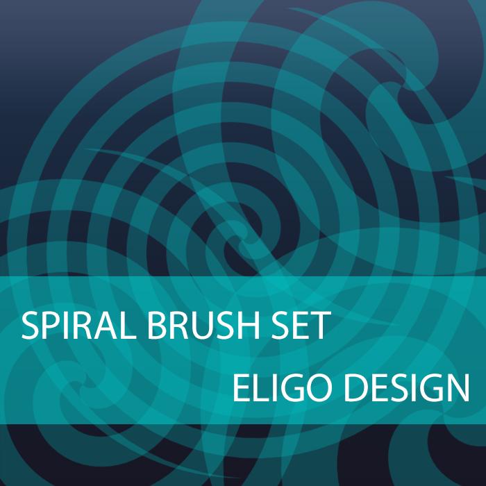 Spiral photoshop brushes
