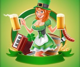 St Patrick Day labels design vectors 01
