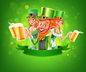 St Patrick Day labels design vectors 03