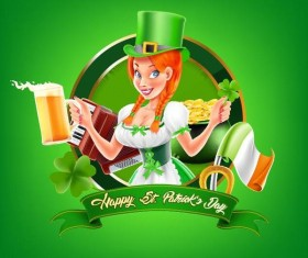 St Patrick Day labels design vectors 04