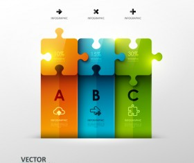 Statistick puzzle infographic vectors 02