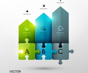 Statistick puzzle infographic vectors 03