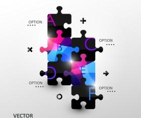 Statistick puzzle infographic vectors 05