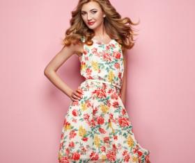 Summer fashion floral dress Stock Photo 07