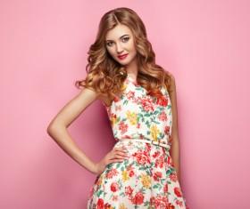 Summer fashion floral dress Stock Photo 10