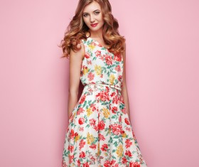 Summer fashion floral dress Stock Photo 11
