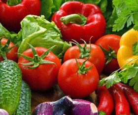 Summer fresh organic vegetables fruits Stock Photo 02