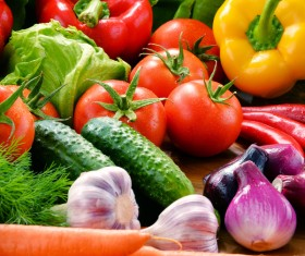 Summer fresh organic vegetables fruits Stock Photo 03