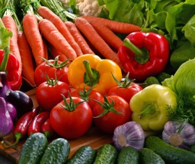 Summer fresh organic vegetables fruits Stock Photo 04