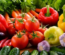 Summer fresh organic vegetables fruits Stock Photo 05