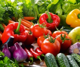 Summer fresh organic vegetables fruits Stock Photo 06