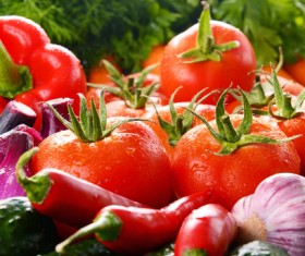 Summer fresh organic vegetables fruits Stock Photo 08