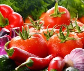 Summer fresh organic vegetables fruits Stock Photo 08
