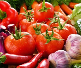 Summer fresh organic vegetables fruits Stock Photo 09