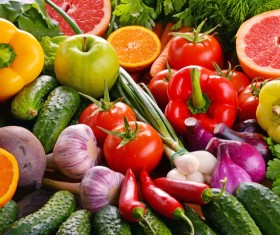 Summer fresh organic vegetables fruits Stock Photo 10