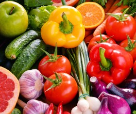 Summer fresh organic vegetables fruits Stock Photo 11