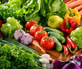 Summer fresh organic vegetables fruits Stock Photo 12
