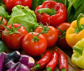 Summer fresh organic vegetables fruits Stock Photo 14