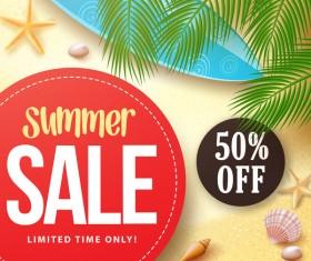 Summer sale big discount background vector 01