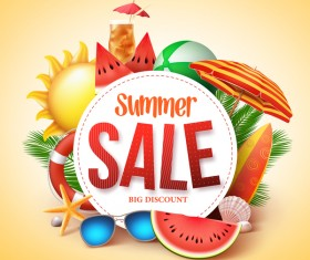 Summer sale big discount background vector 02