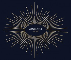 Sunburst vector background 01