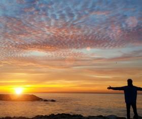 Sunrise and sunset beautiful natural landscape Stock Photo 16
