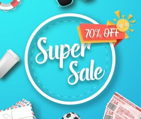 Supper sale discount background vector