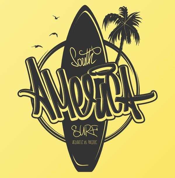 Surf logo design vector