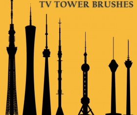 TV Tower Photoshop Brushes