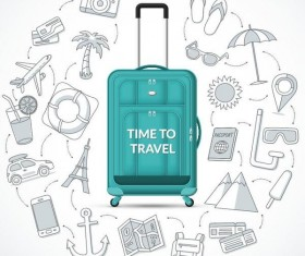Time to travel vector material