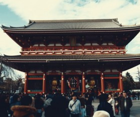 Tokyo Japan Sensoji Temple building Stock Photo