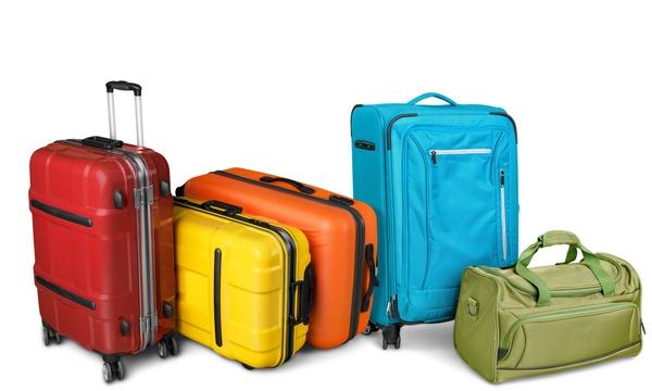Tourism suitcase Stock Photo