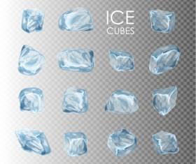 Transparent Ice cubes vector illustration 01
