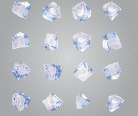 Transparent Ice cubes vector illustration 02