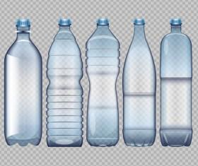 Transparent water bottles package vector 01