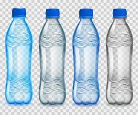 Transparent water bottles package vector 04