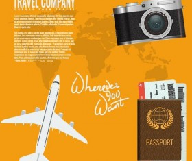 Travel company poster vector template