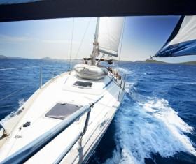Traveling on the sea Sailboat Stock Photo 01