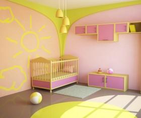 Unique childrens bedroom Stock Photo 06
