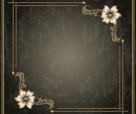 Vintage background with decor frame vectors 02