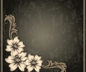 Vintage background with decor frame vectors 03