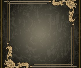 Vintage background with decor frame vectors 05